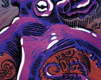 Octopus in Reduction (Purple on Masa)