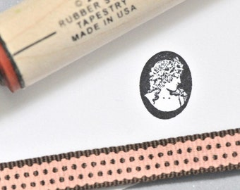 Cameo Rubber Stamp
