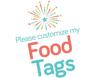Customized Food Tags Add On
