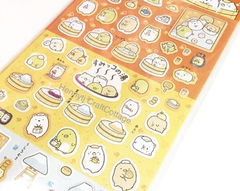 Deco Stickers: Sumikkogurashi San-X Animal Bear, cute cat. For Filofax KIKKI.K Erin Condren Life Planner, Daily Diary Journal decorations.