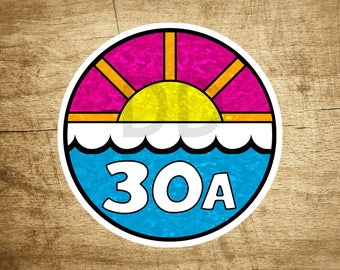 "3.5"" 30A Florida Emerald Coast 30 A Beach Decal Sticker Seaside Destin"