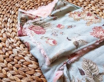 Baby girl snuggler 3-6mo flower sleep sack vintage cotton minky fabric