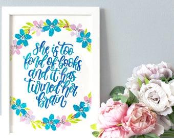 Framed Little Women Quote, Little Women Book Quote, Little Women Quotes, Louisa May Alcott Quote, Literary Gift, Book Lover Gift