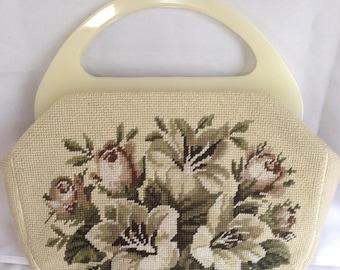 BeigeTapestry Handbag by Maude Hundley of Anchorage Kentucky