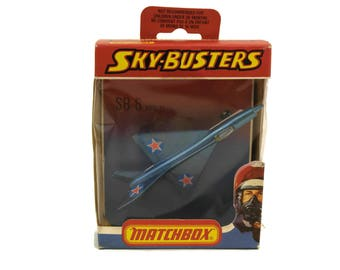Vintage Matchbox Sky-Busters SB-6 MIG 21. Die Cast Metal Model Airplane. Kids Plane Toy. 1978 Lesney Products.