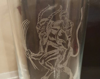 Krampus Pint Glass