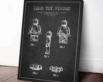Lego Toy Figure Patent, Lego Poster, Lego Print, Lego Decor, Wall Art, Home Decor, Gift Idea, GT16C