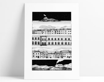 Home -  A limited edition Giclée print featuring houses inspired by Bristol.