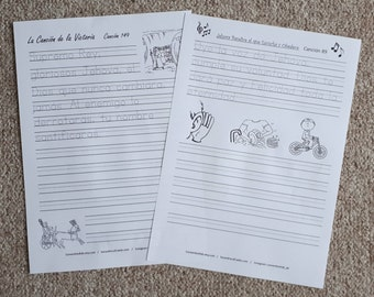 SPANISH 1Handwriting Songs from Kingdom Songbook for JW children