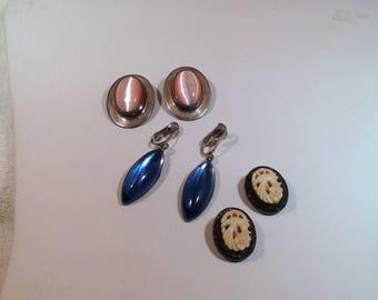 3 pair of Sterling Earrings