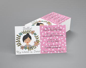 Hello My Name Is Business Card - Custom Character