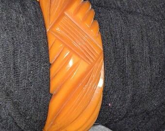 Bakelite Butterscotch Bracelet