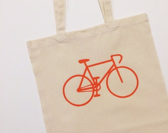 Bicycle Tote Bag With Optional Personalisation