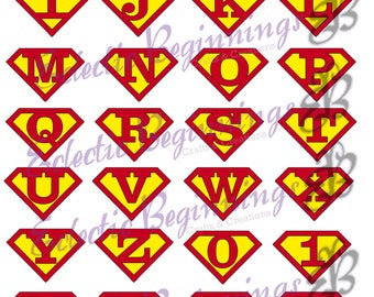 Superman logo etsy alphabet and numbers png digital file diy print clip art superman logo character letters voltagebd Image collections