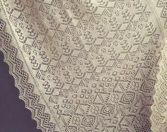 Blyde, A shawl in Shetland Lace, Knitting PDF Pattern