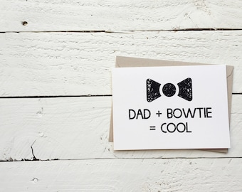 Bowties Are Cool - Father's Day Card - Doctor Who Inspired, Greeting Card - 4.5x6 card with envelope