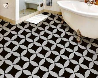 Nagoya Tile Stencil - Cement Tile Stencils - DIY Faux Tiles - Reusable Stencils for Home Makeover