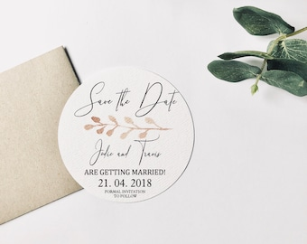 P I N K   L E A F | Wedding Save the Date Cards