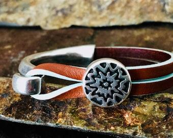 Genuine Leather Bar Bracelet