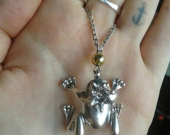 Frog Prince and the golden ball necklace