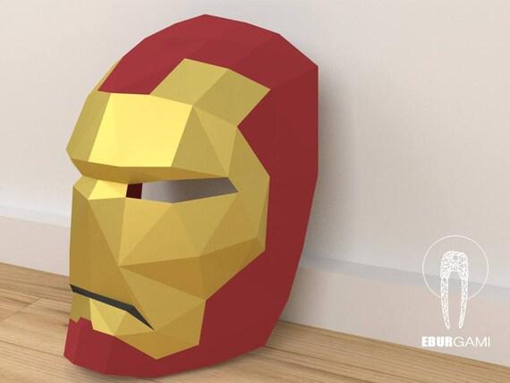 Papercraft Ironman Mask Papercraft 3D Make your own
