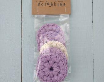 Makeup Removal Pads, Cotton Pads, Facial Scrubbies, Face Cleansing Wipes, Cotton Scrubbies, Crochet pads