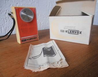 Vintage Klervox transistor pocket radio 1960s