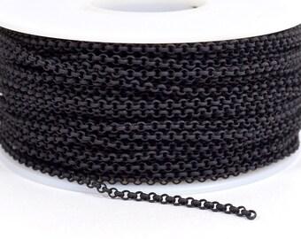 2.0mm Rolo Chain - Matte Midnight Black - 2.0mm Links - CH48