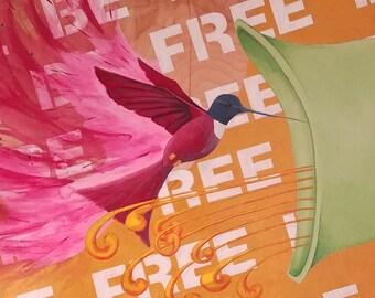 Be Free 8x10 Print Framed