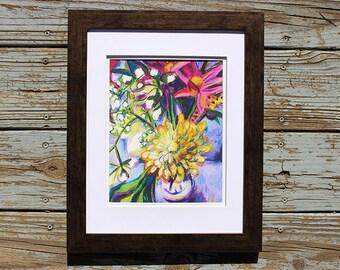Flower Print, Lavender Seams