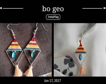 Geo earrings trend