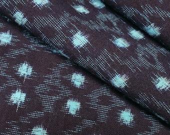 Vintage, Japanese kasuri ikat cotton fabric section -  31 inches (78.7cm)