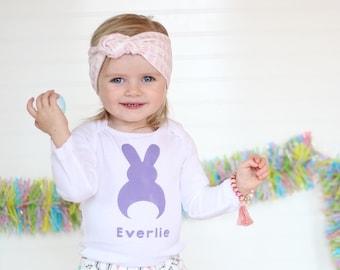 Baby Easter Bunny Shirt - Bunny Shirt - Baby Easter Outfit - Baby Girls Easter Outfit - Baby Easter Outfit - Easter Bunny Outfit -  Easter