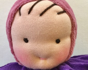 Purple baby, Waldorf doll, 12 inch doll,  gift for girl, handmade doll, gift for children