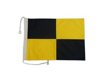 Letter L Cotton Nautical Signal Flag