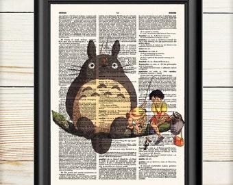 My Neighbor Totoro, Totoro Poster, Studio Ghibli, Hayao Miyazaki, Totoro Dictionary, Anime Poster, 084
