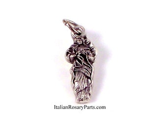 Virgin Mary Undoer Untier of Knots Bracelet Medal Charm | Italian Rosary Parts