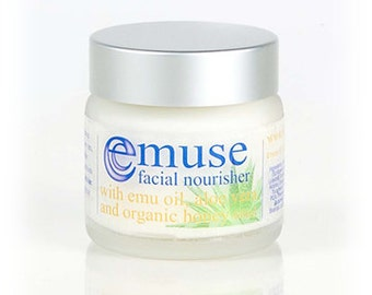 Facial Nourisher with Emu oil, Aloe Vera & Organic Honey 60ml / 2oz