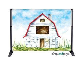 Watercolor Barn – Photography Backdrop