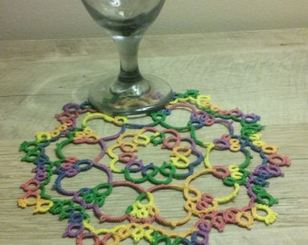Hand tatted doily made to order