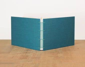 Landscape Sketchbook· Wide Sketchbook· Art Journal· Blank Journal· Watercolor Sketchbook· Lined Notebook· Turquoise· Cloth Notebook· A5