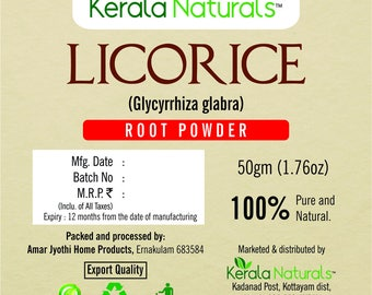 100% Herbs Natural Liquorice Licorice Root Powder - 100gm