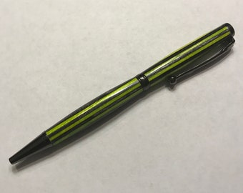 Green and Gray Wood Slim Style Pen