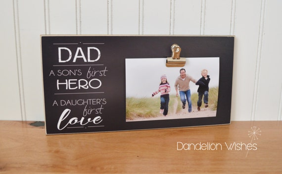 Photo Frame Gift for Dad A Son\'s First Hero A