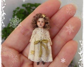 TINY DOLLY ooak miniature doll for 1:12 doll girls by Soraya Merino