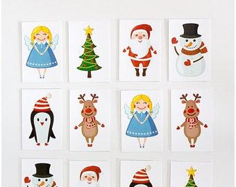 Christmas Matching Game, Santa Matching Game, Christmas Printables, Christmas Game, Christmas Printable Game, Games for Teachers,