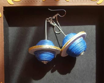 Quilling Saturn Earrings