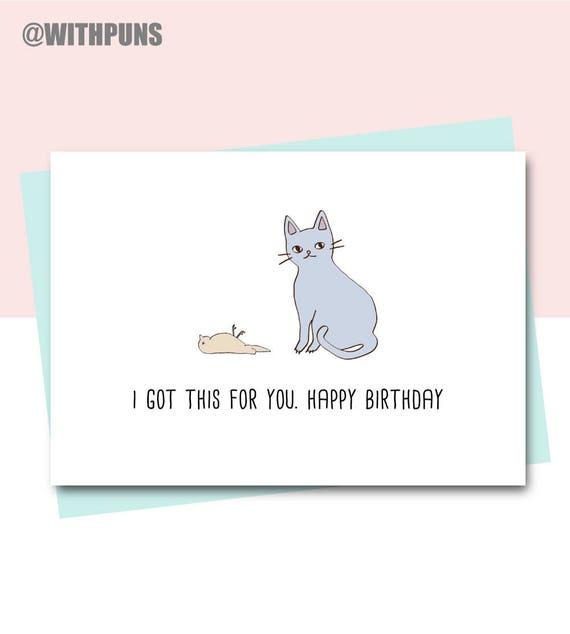 Funny birthday card friend birthday card cat card animal funny birthday card friend birthday card cat card animal card cat lover happy birthday card sister birthday card colleague birthday bookmarktalkfo Gallery