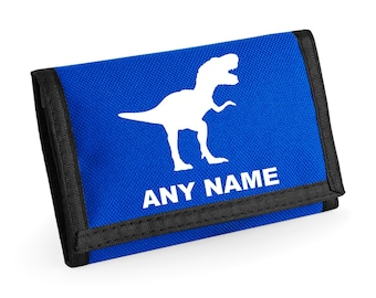 Personalised Dinosaur/T Rex Wallet - *Choice of colours*