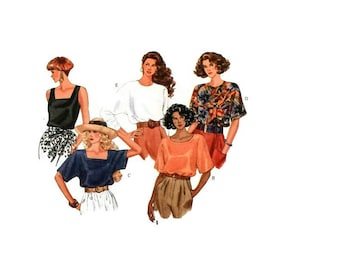 1990s Vintage Sewing Pattern - Butterick 4873 - Pullover Dolman Blouse